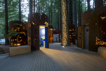 Streetscape project, public toilets at Rotorua Redwoods