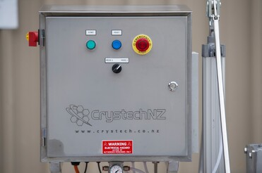 NZ Manufacturing Electrical Box with CrystechNZ logo